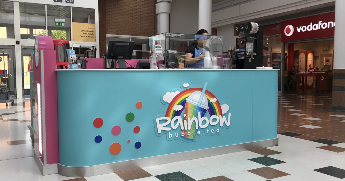 New Kiosk - Rainbow Bubble Tea - The Centre, Livingston